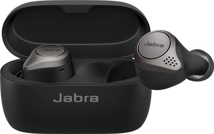 Jabra Elite 75t WLC, titanově černá