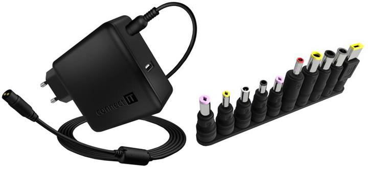 CONNECT IT NomadPower univerzální notebookový adaptér 65 W + extra USB port