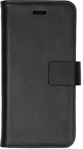 SBS Pouzdro Book Case z pravé kůže pro iPhone Xr, černá
