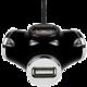 AXAGON - HUE-X3 externí 4x USB2.0 TRINITY hub černý