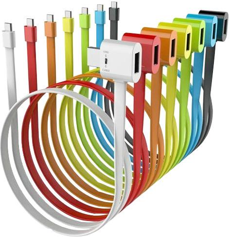 Remax datový kabel RAINBOW s micro USB, OTG a USB konektorem, 0,7m, černá