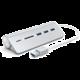 SATECHI Aluminium USB Hub (3x USB 3.0,MicroSD), stříbrná