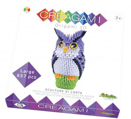 Skládačka CreativaMente Creagami Sova, L, papírová (CZ)