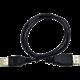 C-TECH kabel USB A-A 1,8m 2.0 prodlužovací, černá