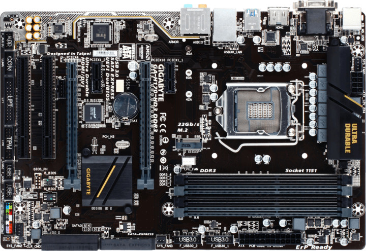 GIGABYTE H170-HD3 DDR3 - Intel H170