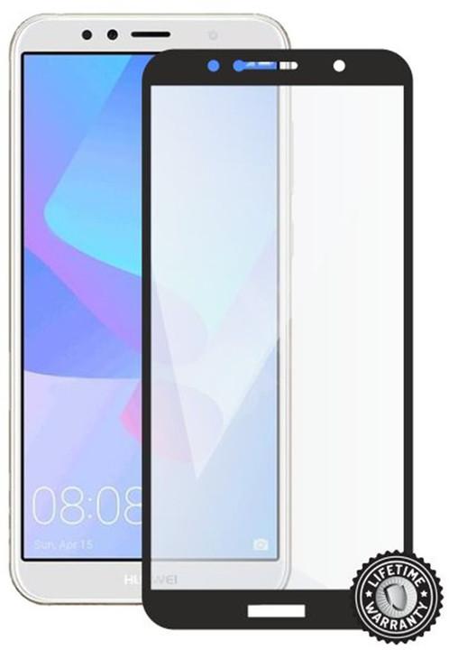 Screenshield ochrana displeje Tempered Glass pro HUAWEI Y6 Prime (2018) (full cover), černá