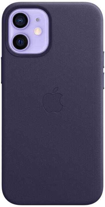 Apple kožený kryt s MagSafe pro iPhone 12 mini, tmavě fialová