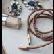 PlusUs LifeStar Premium Handcrafted USB Charge & Sync cable (1m) Lightning - Metallic / Grey