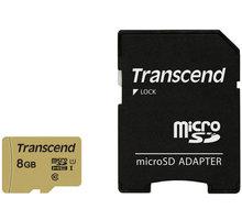 Transcend Micro SDHC 500S 8GB 95MB/s UHS-I U1 + SD adaptér - TS8GUSD500S