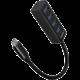 AXAGON MINI hub USB-C 3.2 Gen1 - 4xUSB-A, 5Gbit/s, OTG, 20cm, černá