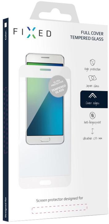 FIXED Full-Cover ochranné tvrzené sklo pro Huawei P9 Lite (2017), přes celý displej, bílé