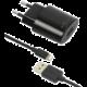 FIXED síťová nabíječka s odnímatelným Lightning kabelem, 2,4A, černá