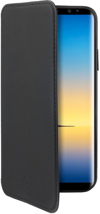 CELLY Prestige pouzdro typu kniha pro Samsung Galaxy Note 8, PU kůže, černé