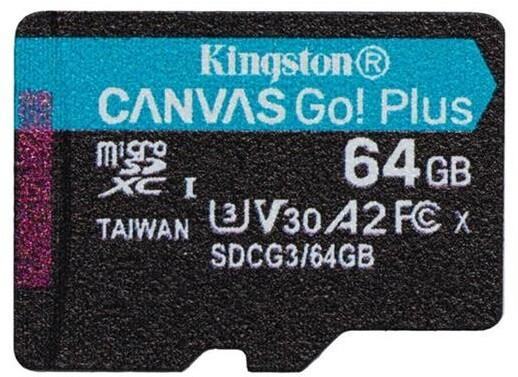 Kingston Micro SDXC Canvas Go! Plus 64GB 170MB/s UHS-I U3 + adaptér