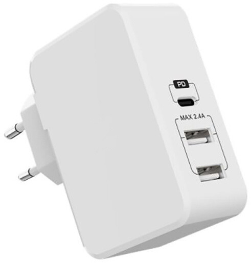 EPICO QUICK PD CHARGER with 3 USB ports - bílá