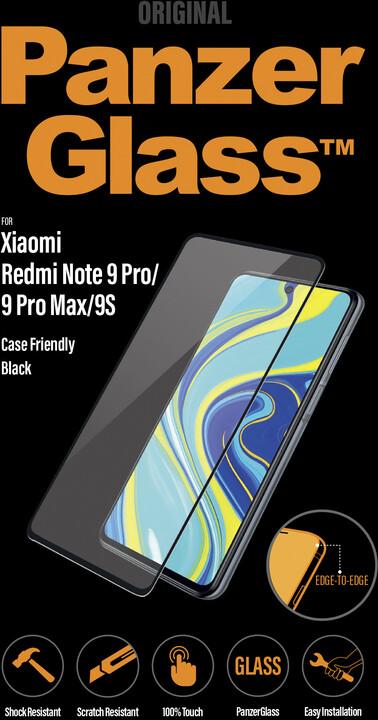 PanzerGlass Edge-to-Edge pro Xiaomi Redmi Note 9 Pro/9 Pro Max/9S, černé