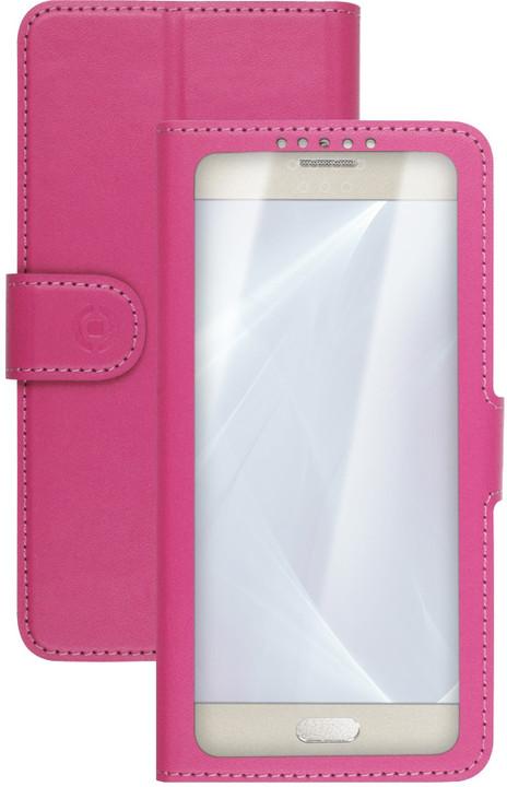 """CELLY View Unica pouzdro typu kniha, velikost XL, 4,5"""" - 5"""", růžové"""