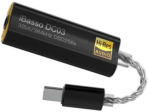 iBasso DC03, sluchátkový zesilovač s DA převodníkem, černá