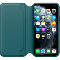 Apple ochranný kryt Leather Folio pro iPhone 11 Pro Max, zeleno-modrá