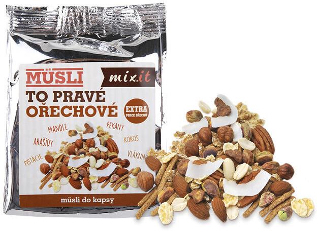 Mixit ořechy To pravé ořechové do kapsy - mix ořechy/čokoláda, 60g