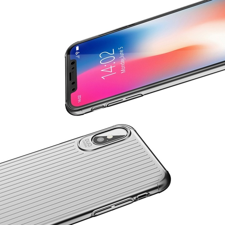 Mcdodo iPhone X Travel Starting Hard Case (PC), Silver