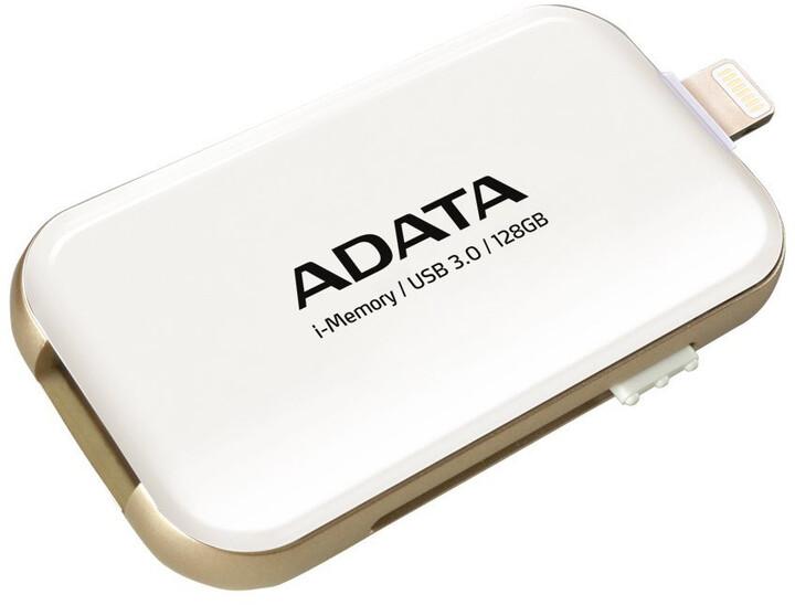 ADATA UE710 - 128GB, bílá