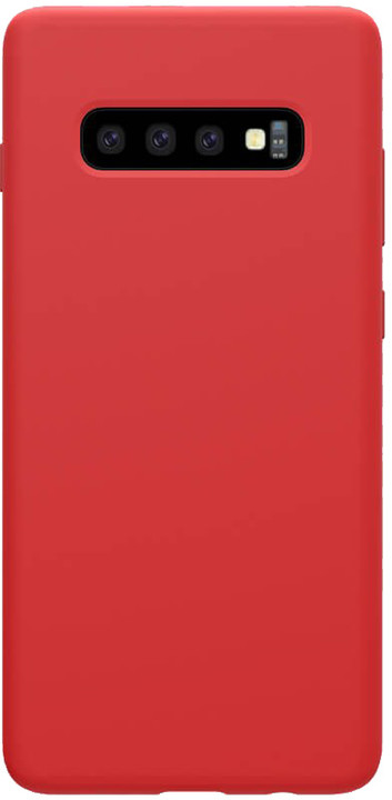 Nillkin Flex Pure Liquid silikonové pouzdro pro Samsung Galaxy S10+, červená