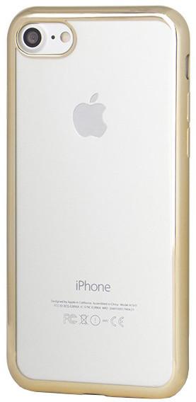 EPICO Pružný plastový kryt pro iPhone 7 BRIGHT - zlatý