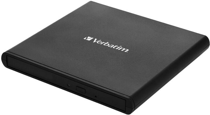 Verbatim DVD-RW Slimline, USB 2.0, černá