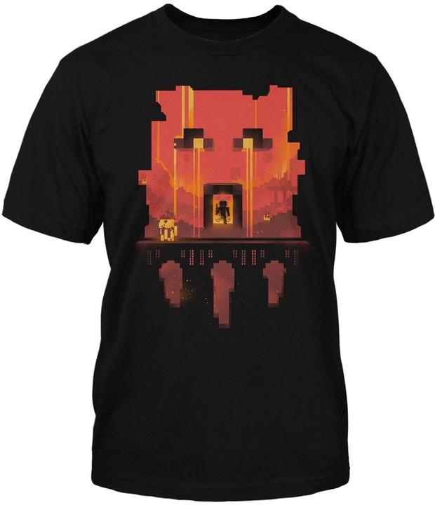 Tričko Minecraft Glimpse, černé (US M / EU L)