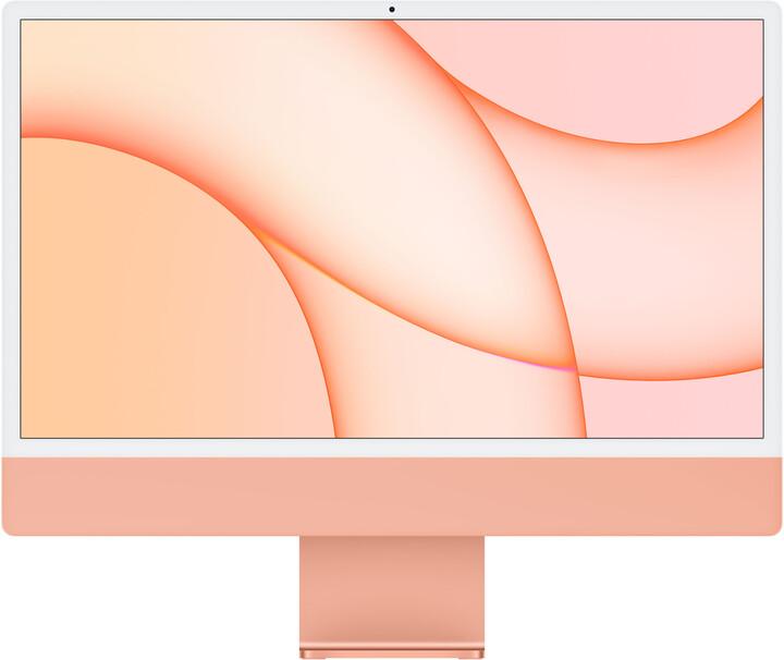 """Apple iMac 24"""" 4,5K Retina M1 /8GB/256GB/8-core GPU, oranžová"""