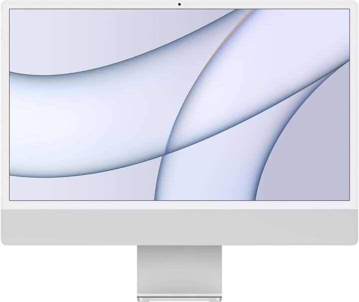 "Apple iMac 24"" 4,5K Retina M1/16GB/512GB/8-core GPU, stříbrná"