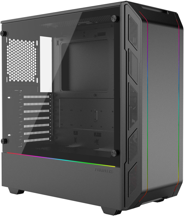 PHANTEKS Eclipse P350X, Tempered glass, RGB, černá