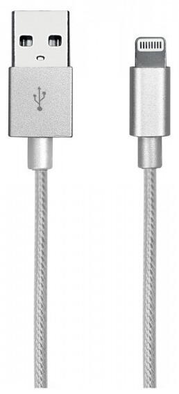 SBS Datový kabel Gold Collection Apple MFI, stříbrná