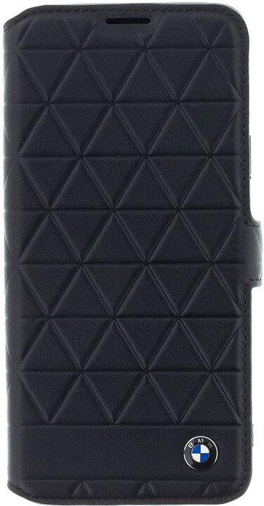 BMW Hexagon Leather Book Case Black pro Samsung G965 Galaxy S9 Plus