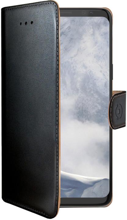 CELLY Wally pouzdro typu kniha pro Samsung Galaxy S9, PU kůže, černé