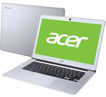 Acer Chromebook 14 celokovový (CB3-431-C1RS), stříbrná