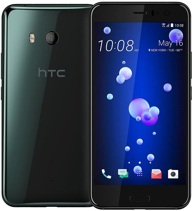 HTC U11, 4GB/64GB, Dual SIM, Brilliant Black, černá