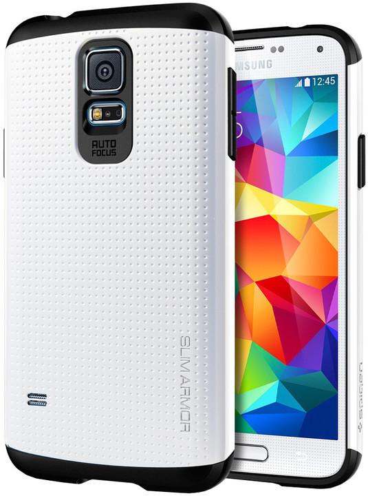 Spigen Slim Armor, infinity white pro Galaxy S5