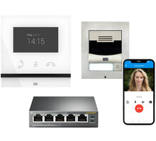 2N Villa kit - IP Solo, Indoor Compact + 2x licence Mobile Video 1 rok + PoE switch - ATEUS-1110001