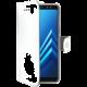 CELLY Wally pouzdro typu kniha pro Samsung Galaxy A8 (2018), PU kůže, bílé