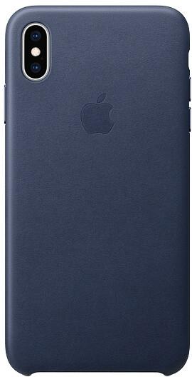 Apple kožený kryt na iPhone XS Max, půlnočně modrá