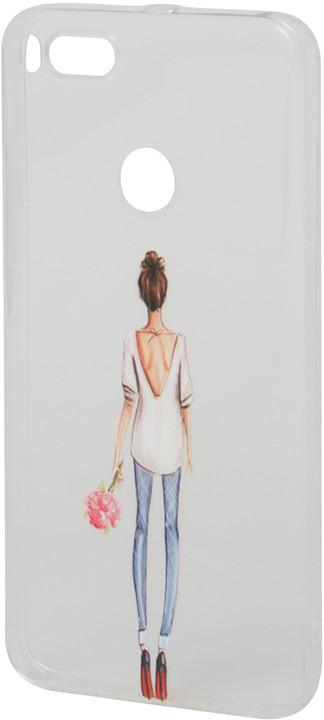 EPICO pružný plastový kryt pro Xiaomi Mi A1 LADY WITH FLOWER