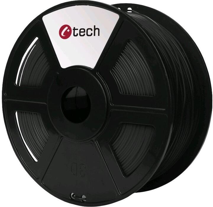 C-TECH tisková struna (filament), PLA, 1,75mm, 1kg, carbon