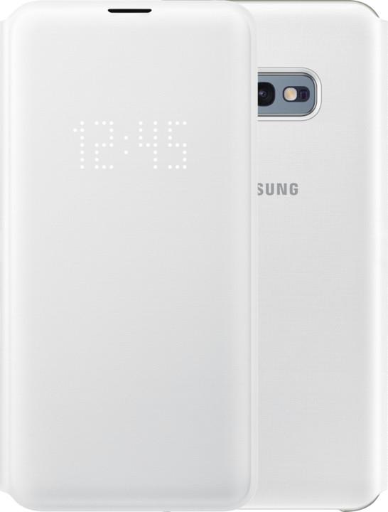 Samsung LED flipové pouzdro pro Samsung G970 Galaxy S10e, bílá