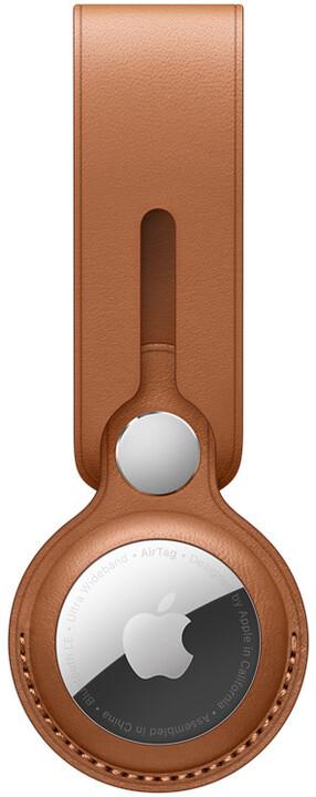 Apple poutko na AirTag, kožené, hnědá