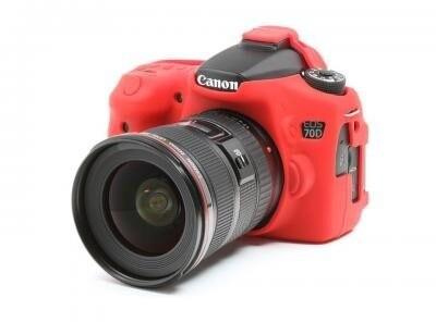 Easy Cover silikonový obal pro Canon 70D, červená