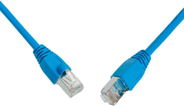 Solarix Patch kabel CAT5E SFTP PVC 1m modrý snag-proof
