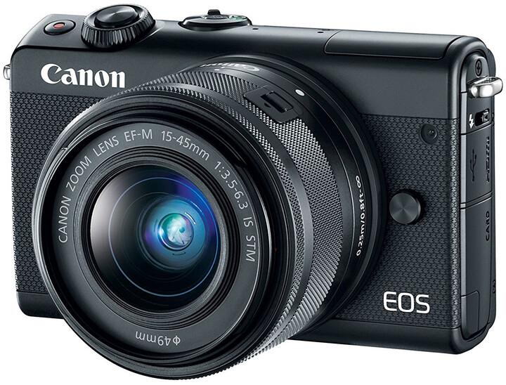 Canon EOS M100 + EF-M 15-45mm IS STM, černá + IRISTA