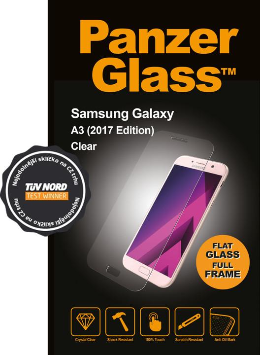 PanzerGlass Edge-to-Edge pro Samsung Galaxy A3 (2017), čiré